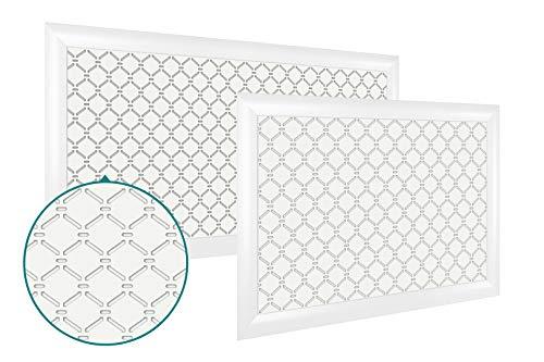 Heizkörperverkleidung | hitzebeständige MDF Platte | Heizung | Abdeckung | modern | Lüftungsgitter | verschiedene Größen | 120 x 60 cm | Azhur