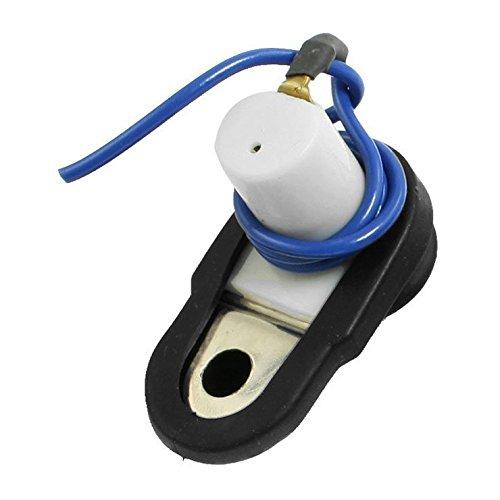 SODIAL(R) 2 Pcs Coche Interior del Vehiculo Puerta Cortesia Luz Interruptor Boton Negro