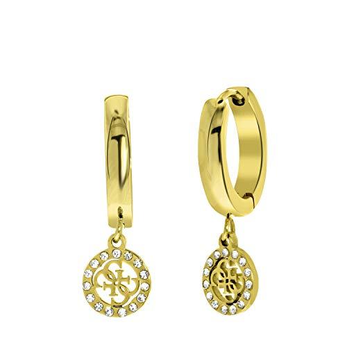 Guess-Ohrringe, Edelstahl, vergoldet, 4G-Logo, 15 mm - für Damen