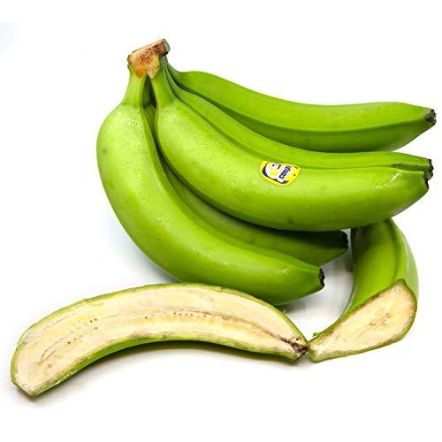 Congo Cooking Bananas, Hard Green, Guineo, Not For Ripening 4 pound Box (1.8 Kilograms)