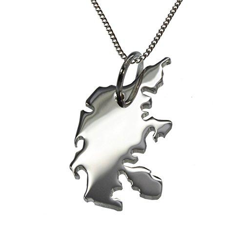 50cm Halskette + Dänemark Anhänger in massiv 925 Silber