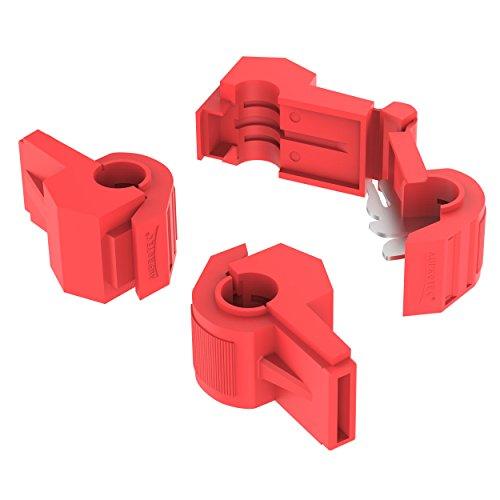 Auprotec Serre-câble, connecteurs rapides, 0,5 - 4 mm² pour cosse mâle, pinces serre-câbles isolées en polypropylène, laiton étamé, embouts pour câbles et fils électriques