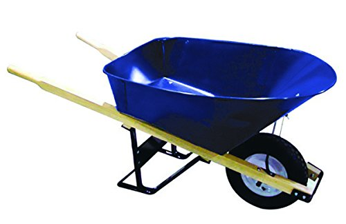 Bon 28 702 Premium Contractor Grade Steel Single Wheel Wheelbarrow with Wood Handle and Ribbed Tire, 6 Cubic Feet -  Bon Tool, 28-702