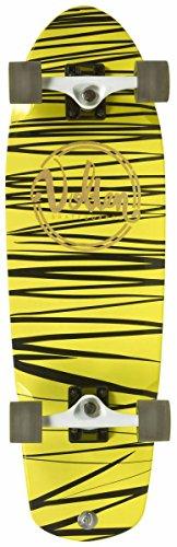 VOLTEN Longboard Skateboard Pool Amarillo-Negro Amarillo-Negro, Standard