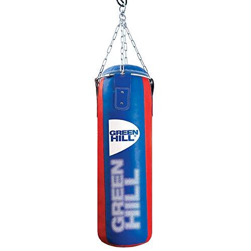 GREEN HILL Sacco da Boxe Similpelle Pugilato Pieno Boxing Punching Bag Saccone Riempito (120cm x 30cm x 30kg)