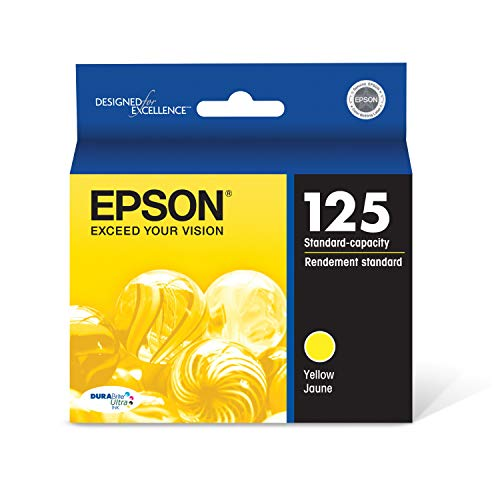 EPSON T125 DURABrite Ultra Ink Standard Capacity Yellow Cartridge (T125420) for select Epson Stylus and WorkForce Printers