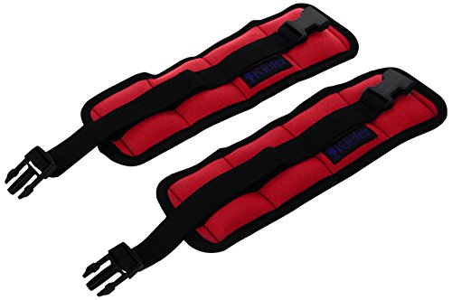 Kiefer 811400-5 Ankle/Wrist Weights (1-Pair), 2.5 Pounds Each, Red