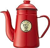 カリタ Kalita コーヒーポット ホーロー製 コーヒ-達人 ペリカン 1L レッド #52123