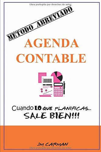 Agenda Contable - MÉTODO ABREVIADO: Organizador de presupuestos y financiero, libro de cuentas, planner. Organiza tus gastos fantasmas. Planificador mensual sin fecha. Cuaderno de cuentas domésticas.