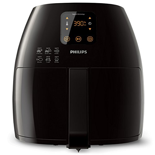 Philips Starfish Technology XL Airfryer, Digital Interface, Black - 2.65lb/3.5qt HD9240/94