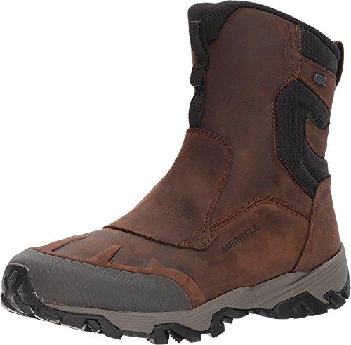"""Merrell Men's COLDPACK ICE+ 8"""" Zip Polar Waterproof Snow Boot, Brown, 10.5 M US"""