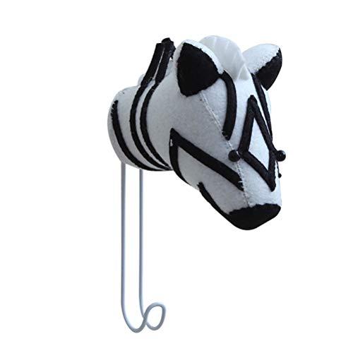 WINOMO Dekorative Wollfilz-Mantel-Haken-Hochleistungswand befestigter Zebra-Geformter Kleiderhaken-Rost-Wand-Haken