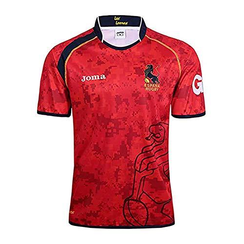 SHUER Camiseta De Rugby De La Copa Mundial De España 2019, Camiseta De Fútbol De La Selección Nacional De España Camiseta De Rugby para Hombre Camiseta De Atleta S