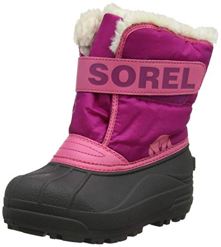 Sorel - Youth Snow Commander Snow Boots for Kids, Tropic Pink/Deep Blush, 8 M US