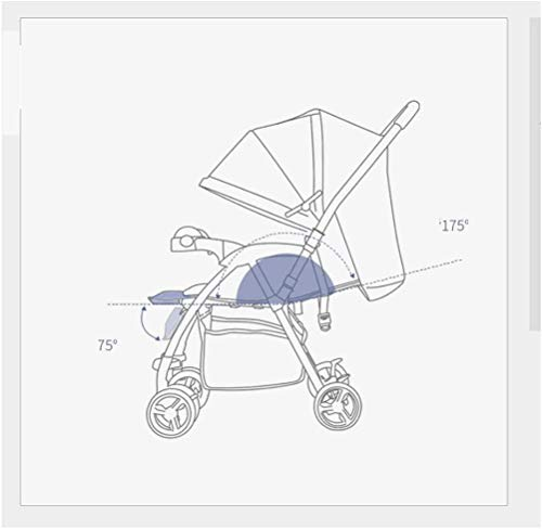 LAMTON Baby Stroller for Newborn, Two-Way Pushchair, Baby Stroller, Reclining, Folding, Shockproof, Lightweight,pram Baby Stroller Buggy,Folding (Color : Blue) LAMTON Adjustable handlebars for people of all heights can adjust the most comfortable push position Easy to fold, can be picked up in the trunk of the car, his parents urge him to go shopping, travel, walk, play and talk, or picnic outdoors 1. Steel pipe and oxford material ,Two-way push,Adjustable backrest angle, can sit and lie down 5
