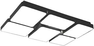 Accessoires de Construction Personnalité Tridimensionnelle Géométrique Rectangulaire LED Plafonnier Salon Chambre Chambre ...