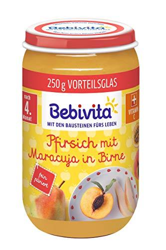Bebivita Pfirsich mit Maracuja in Birne, 6er Pack (6 x 250 g)