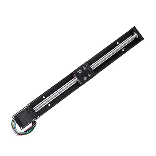 ZRNG CNC Linear Guide Stage Rail Motion Slide Stage Actuator 50/100/150/200mm T6*2 Motor Stepper Stroke Actuator Fit For 3D Printer XYZ (Guide Length : 250mm)
