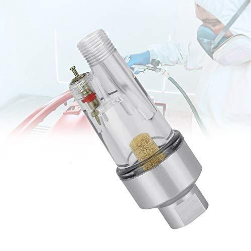 N/ A QLWNWQAD Ölabscheider Wasserabscheider Transparent Druckluft Abscheider Mini Airbrush Luftfilter mit 1/8 BSP-Verbindung Airbrush Filter für Airbrushpistolen