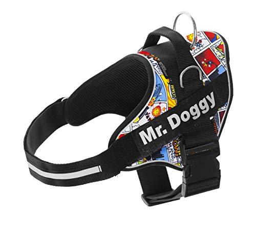 Arnés Personalizado para Perros - Estampado - Arnés para Perros Reflectante - Incluye 2 Etiquetas con Nombre - Todos los...