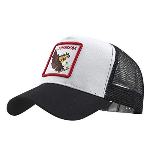 LOPILY Gorra de béisbol de algodón Bordado de Animales Sombreros Cowboy Moda Sombrero de Mujer y Hombre Sencillo Sombrero de Sol Gorra Deportiva para Viajes Decoración