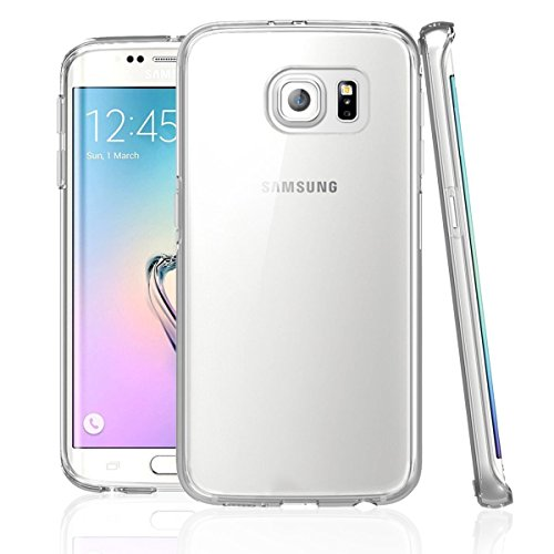 NEW'C Hülle für Samsung Galaxy S6 Edge [Ultra transparent Silikon Gel TPU Soft] Cover Hülle Schutzhülle Kratzfeste mit Schock Absorption & Anti Scratch kompatibel Samsung Galaxy S6 Edge