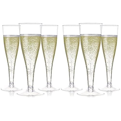 unkonw 100 copas de champán de plástico desechables transparentes para tostar, suministros para bodas y fiestas
