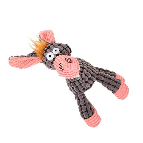 ULTECHNOVO Hund Plüschtiere Plüschtier Hundespielzeug Kauspielzeug Haustier Quietschspielzeug Ausgestopftes Welpenspielzeug für Kleine Mittelgroße Hundewelpen