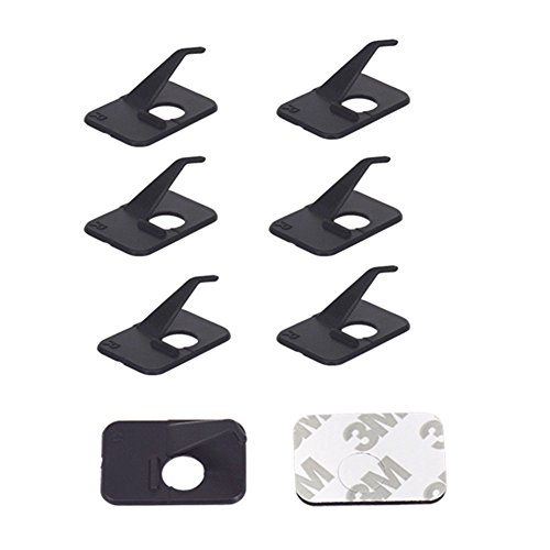 HRCHCG 12pcs Black Plastic Arrow Rest Archery RH LH Recurve Bow Arrow Rest Hunting Shooting Targeting Accessory Right or Left Hand (Left Hand)