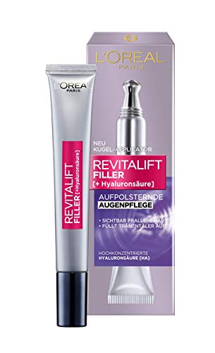 L'Oréal Paris Hyaluron oogcrème, vulling oogverzorging met hyaluronzuur tegen kringen en rimpels, pak van 2 (2 x 15 ml)