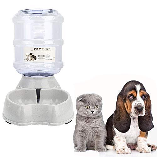 meleg otthon Automatischer Futterspender für Haustier,Futterspender und Wasserspender im Set,Hund Schüssel Wassertränke jeweils 3.8 L (Wassertränke)