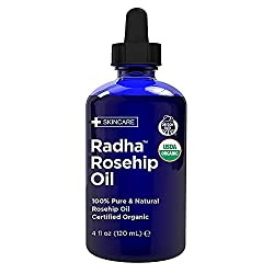 Radha Beauty USDA Certified Organic Rosehip Oil
