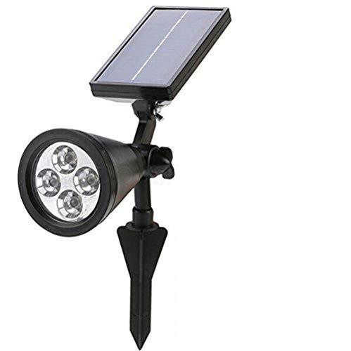 BW® Nouvelle arrivée Spot d'extérieur LED à énergie solaire lumière solaire jardin paysage pelouse lampe spot LED