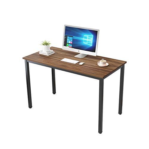 SogesHome biurko komputerowe 120 x 60 x 75 cm biurko biurko biurko do domu biura jadalni, orzech SH-LD-AC120WN