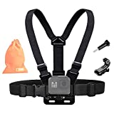 Kitway Chest Mount Harness, Adjustable Chest Strap Elastic Action Camera Body Belt with J Hoot Compatible with New GoPro HERO9/GoPro Max, Hero 8 7 6 5 4 3 3 2 1/Akaso EK7000/DJI Osmo Pocket/Crosstour