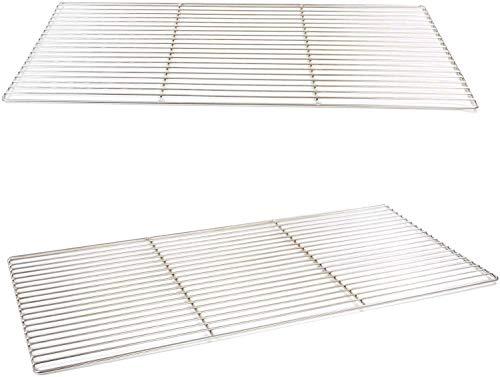 Grillrost 80 x 40 cm aus Edelstahl rostfrei und elektropoliert