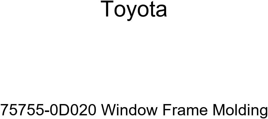 TOYOTA Genuine 75755-0D020 shopping Molding Frame Window Large discharge sale