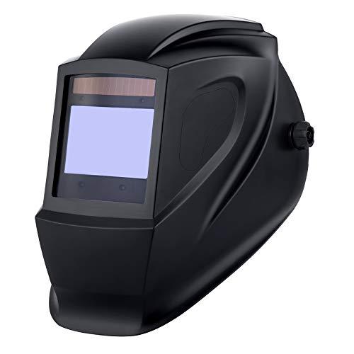 CO-Z Careta para Soldar con 4 Sensores de Arco Casco de Soldadura Automática con Pantalla LED Careta de Soldar Automatica de Plasma TIG MIG (Pantalla Digital Oscurecimiento)