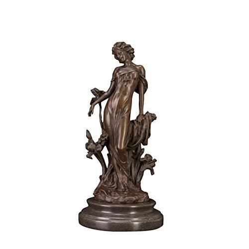 FENGJIAREN Estatuas,Estatuillas,Esculturas,Decoración De Escritorio Coleccionable Estatua Figura De Bronce Estatua Dama Escultura para La Venta