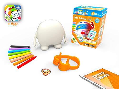 kibi Mr Plinton 3D - Mueco Creatividad para Dibujar, Pintar y Colorear. App y Juegos 3D (Neox Kidz)