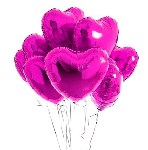 10 hartballonnen - roze - 46 x 43 cm - valentijnskaart - verjaardag - nieuwjaar - feest - decoraties - vriendin - vriendje - gevierd