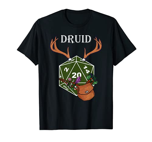 D20 RPG Dragons Mesa Regalo - Dungeon Class Druid Camiseta