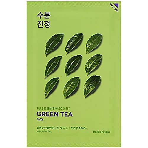 Holika Holika - Mascarilla Calmante 20 ml - Ampoule Mask Sheet - Green Tea - 1 unidad