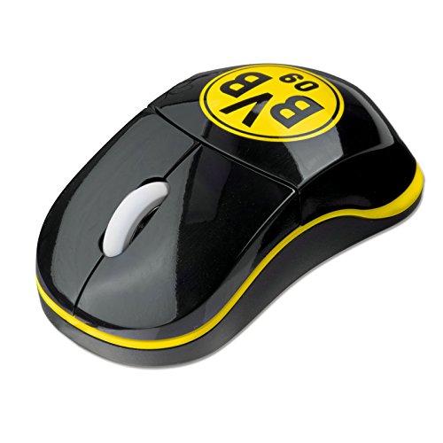 BVB 16641100 Maus Kabellos schwarz/gelb
