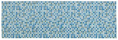 WENKO Mosaic 65 x 200 cm, Alfombra de baño, Cocina, plástico, Multicolor, 65 x 0 x 200 cm