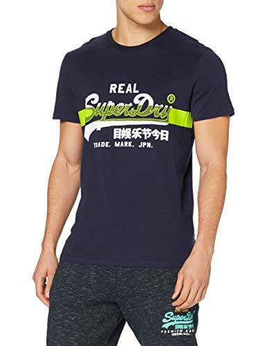 Superdry VL Cross Hatch tee Camiseta, Azul (Rich Navy Adq), M para...