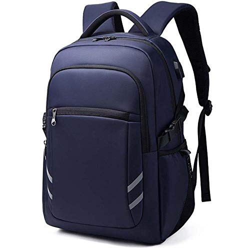 Large Laptop Backpack Rucksack Usb Charging Port Travel Business Work Bag Anti-Theft College Computer Luggage Daypacks For Womens Mens Students Gifts-Blue