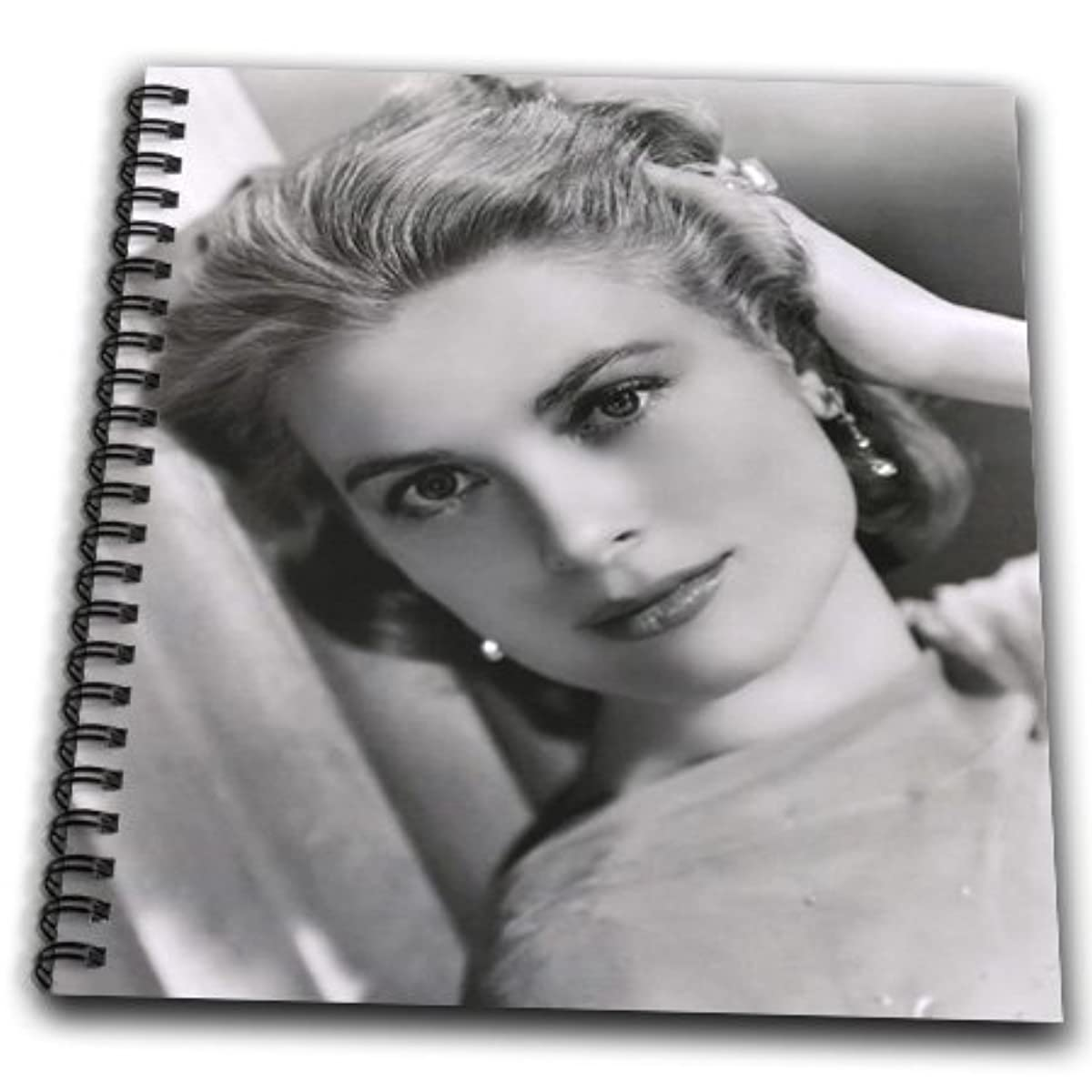 3dRose db_100520_1 Picture of Photo of Elegant Grace Kelly-Drawing Book, 8 by 8-Inch