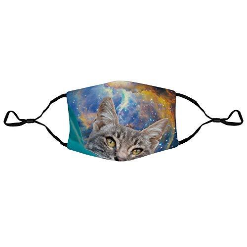 Meg121ace Stofmasker met Filter Element Carnivoor Kat Felidae Kitten Schilderij Sky Space Tabby Kat Whiskers