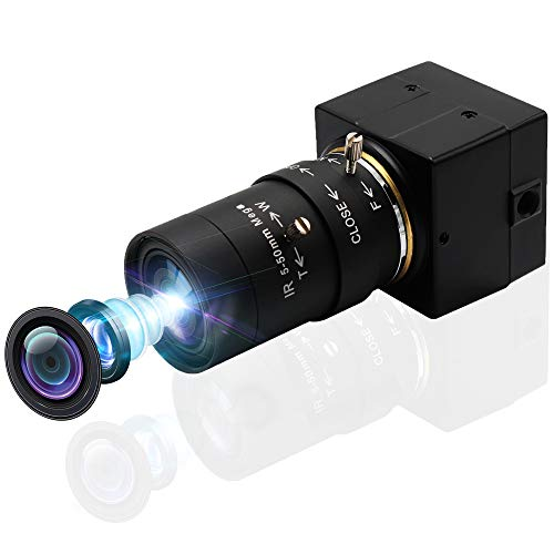 SVPRO Webkamera 5-50mm Varifokallinse 8MP Manuell Zoom USB Kamera High Definition Webcam 2448P HD Minikamera IMX179 Sensor USB mit Kamera für Android Windows Linux Mac OS, Plug&Play UVC Kamera